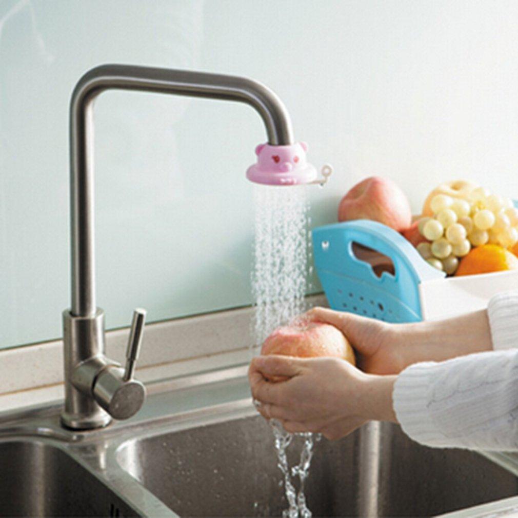 Yesiidor Water Tap Faucet Cute Cartoon Sprinkler Shower Splash Filter Valve Water Saving Device Kitchen Accessories
