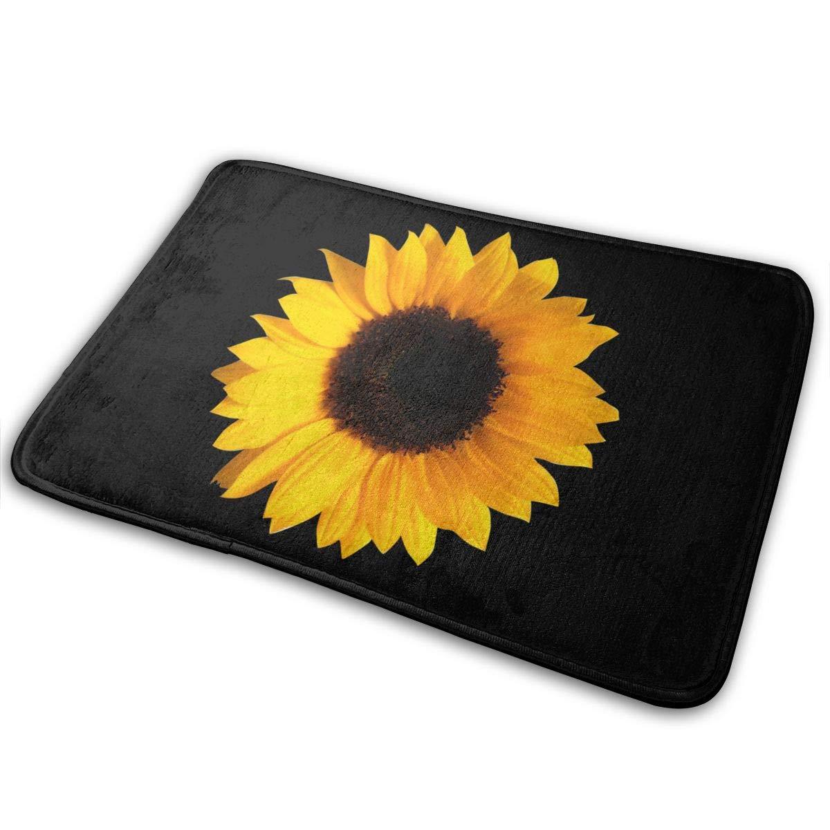 JTLCBC Sunflower Entrance Mat Floor Mat Home Decor Carpet Indoor Rectangle Doormat Kitchen Mats
