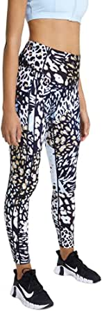 Rockwear Activewear Women's Urban Jungle Fl Print Pocket Tight from Size 4-18 for Full Length Bottoms Leggings + Yoga Pants+ Yoga Tights