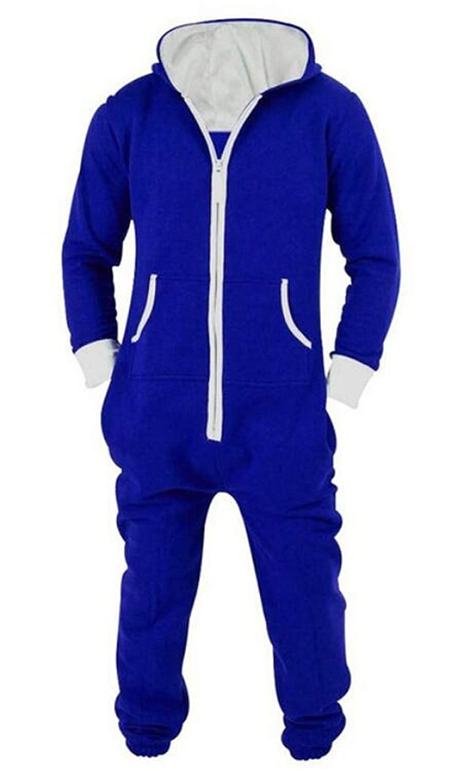 BYWX Men Lounge Wear Cosplay Playsuit Jumpsuit One Piece Onesie Hoodie Pajamas