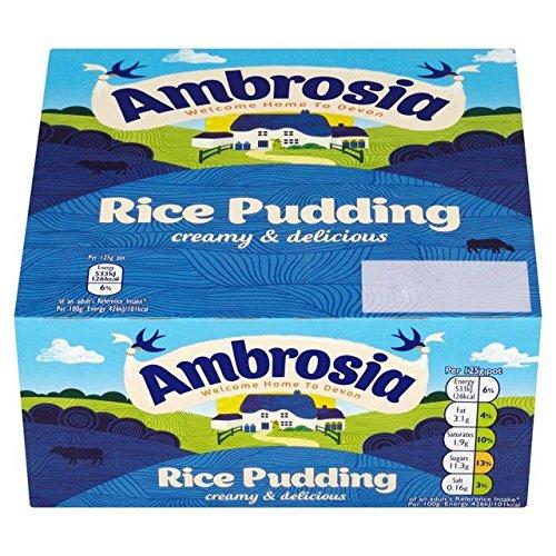 Creamy Rice Pudding (Ambrosia Rice Pudding - 4 x 125g (1.1lbs))