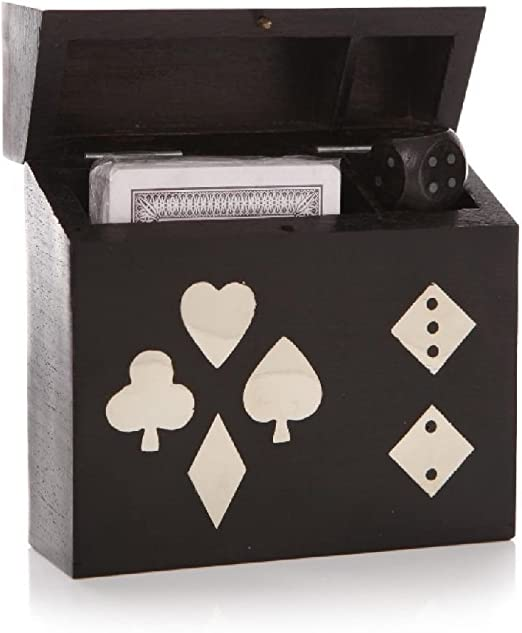 Casino Poker juego de cartas cubierta juego de dados 5 dados y Set ...