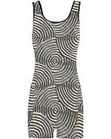 Artsadd Sparkling Groovy Metal,Silver Classic One Piece Swimwear Swimsuit