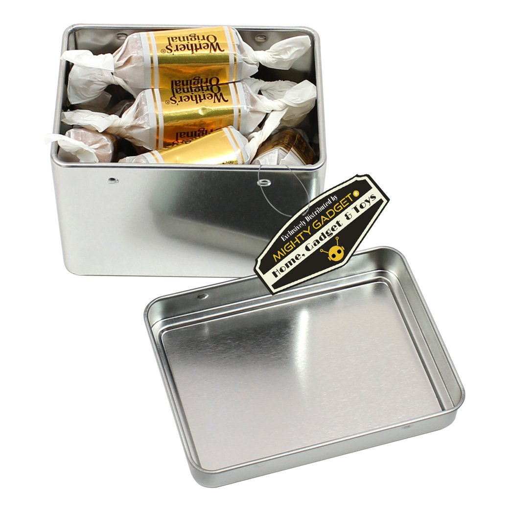 4 Pack R - 2.875 x 2.125 x 2 Rectangular Empty Snap on Lid Survival Tin Container for Geocaching or Survival Gear Mighty Gadget