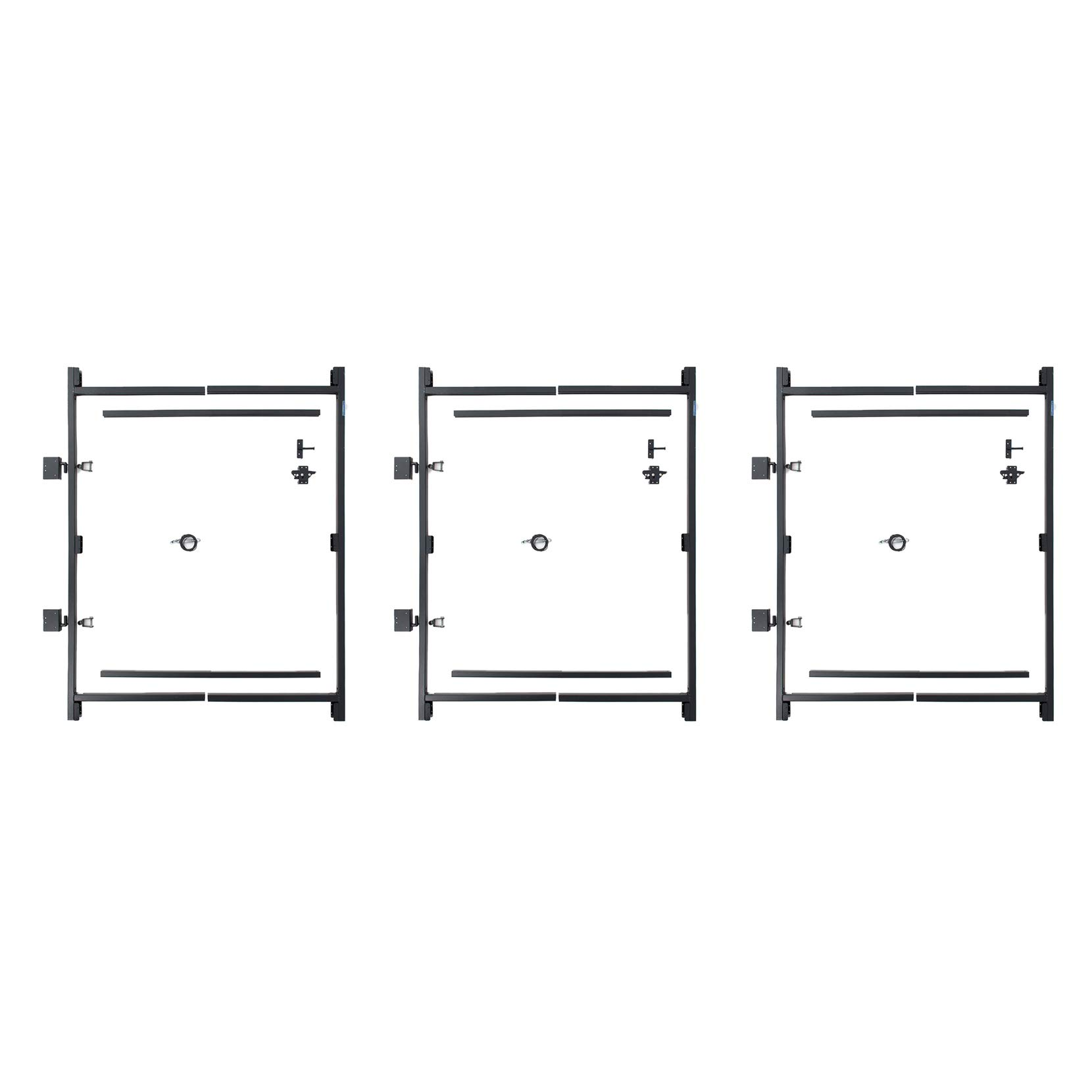 Adjust-A-Gate Steel Frame Gate Building Kit, 36''-60'' Wide Opening Up to 7' High (3 Pack)