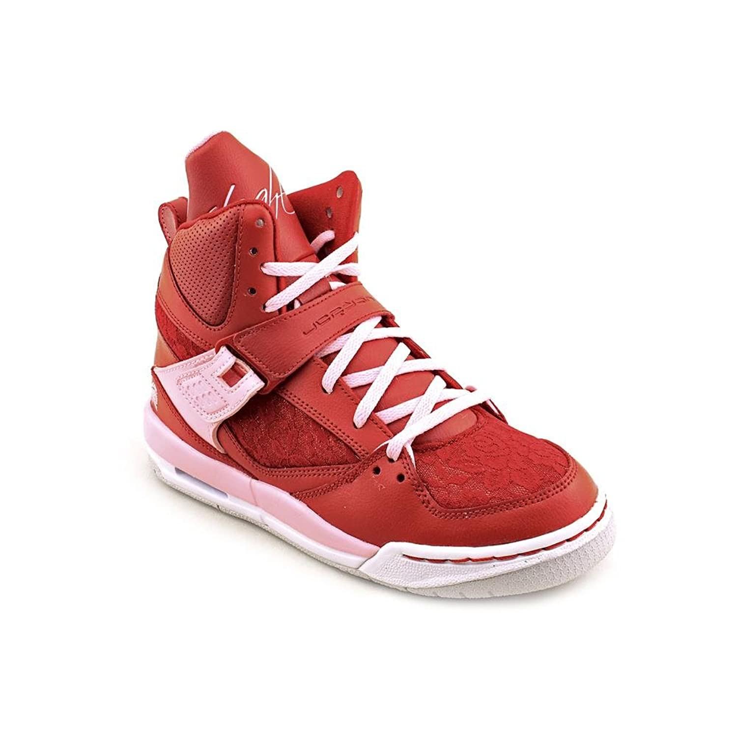 Amazon.com | Jordan GIRLS JORDAN FLIGHT 45 HI PREMIUM (GS) VIVID GYM RED  547769 605 Size 7y | Basketball