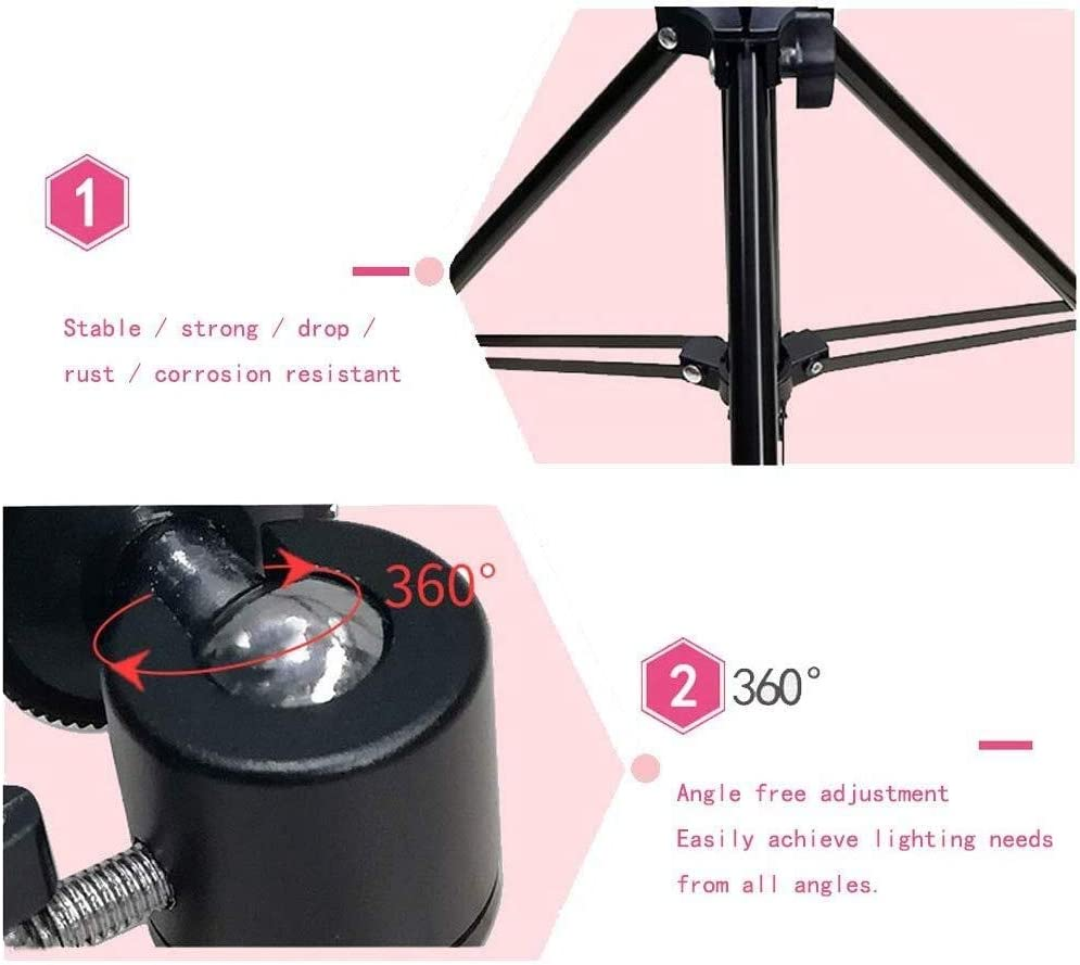 Mobile Phone Live Fill Light Triangle Bracket Anchor Beauty Tender Photography Multi-Function Shooting Light Skin Soft Light Live Light Lamp Selfie Camera Light Still Life Shooting Floor Hd Ring Light