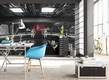 Star Wars Wall Mural Destroyer Deck Wallpaper Wall Decoration Darth Vader Spaceship 450x300cm Amazon Co Uk Diy Tools