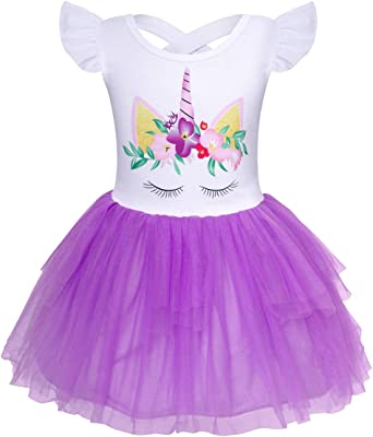 Unicorn Dress Girls Size 8 7 6 5 10 12 Long Sleeve Birthday Party Supplies PARTY
