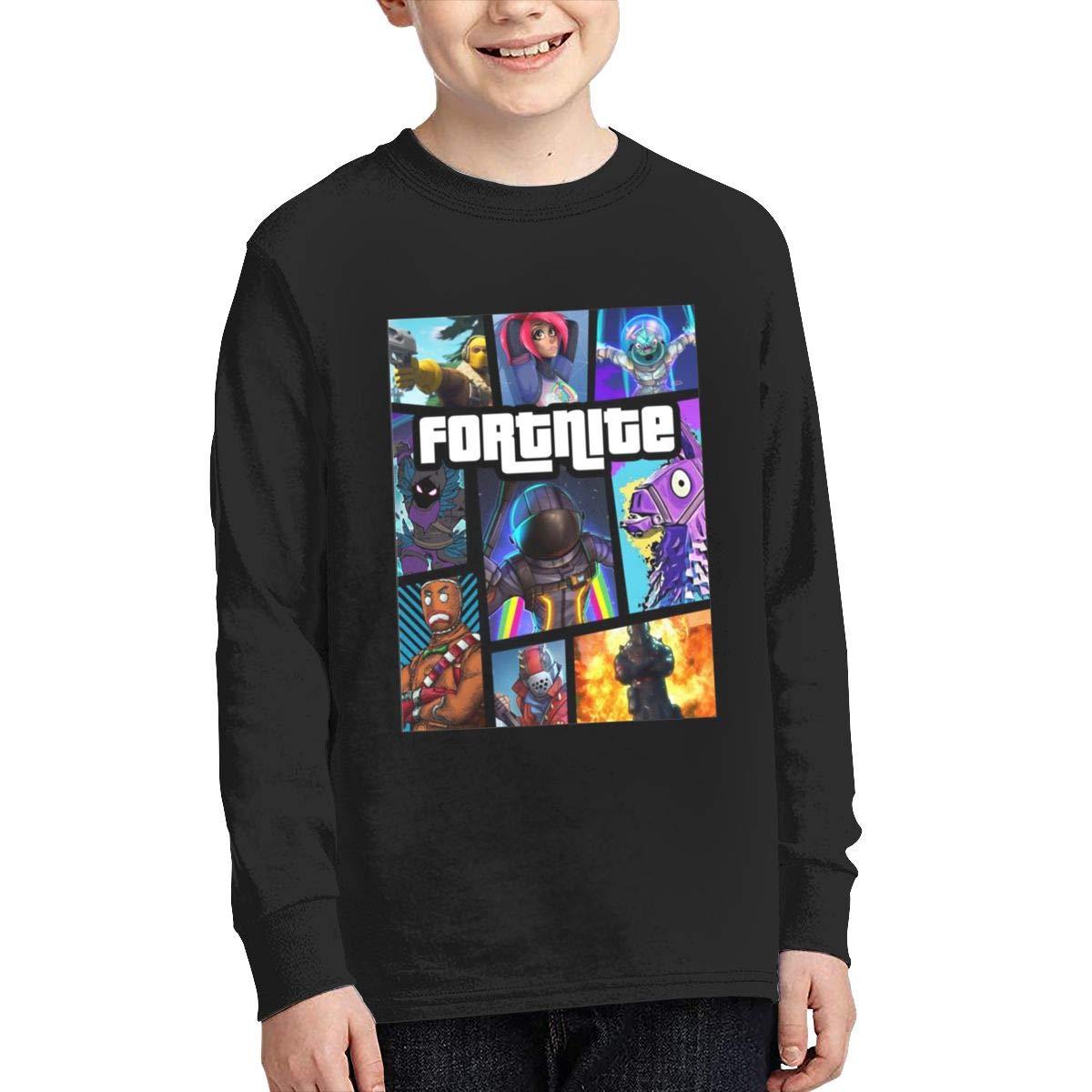 Fortnite Battle Royale Long Sleeve Teenage T-Shirt gamefotsoa