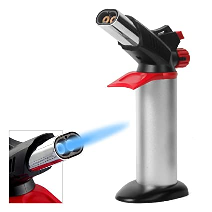 culinary torch adjustable double flame butane torch refillable kitchen blowtorch for cookingbaking - Kitchen Blowtorch