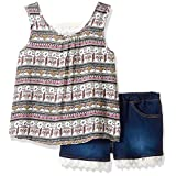 Limited Too Girls' 2 Piece Fashion Tank and Short Set, 3072-Multi, 7