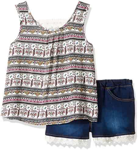 Limited Too Girls' 2 Piece Fashion Tank and Short Set
