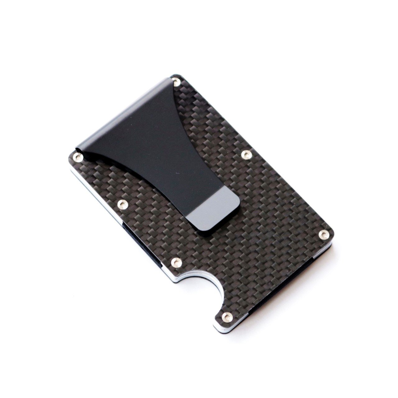 Kings Man : Minimalist Carbon Fibre Slim RFID Wallet with Money Clip by Kingsman Royale