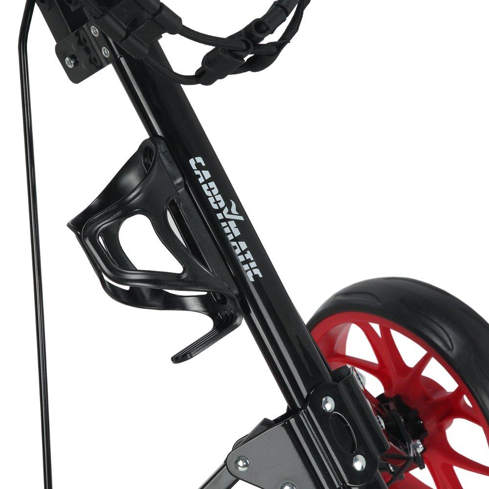 Caddymatic Golf Pro Lite 3 Wheel Golf Cart Black/Red by Caddymatic (Image #5)