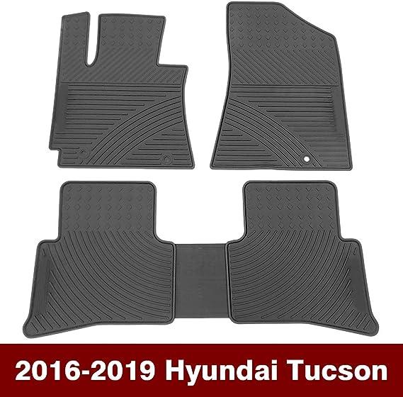Orealtech Fußmatte Auto Für Hyundai Tucson 2016 2019 Allwetter Original Qualität Autoteppich Latex Schwarz 5 Teilig Automatte Vorn Und Hinten Auto