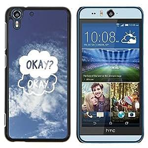 Stuss Case / Funda Carcasa protectora - Couverture dessin drôle Blue Sky - HTC Desire Eye M910x