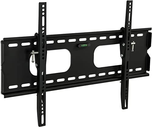 Mount-It Low-Profile Tilting TV Wall Mount Bracket for 32-60 inch LCD, LED, OLED, 4K or Plasma Flat Screen TVs – 175 lbs Capacity, 1.5 Inch Profile, Max VESA 600×400 MI-318B , Black, 60