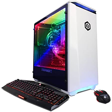 CYBERPOWERPC BattleBox Ultimate Liquid Cool SLC8840CPG PC ntel i7-8700K 3.7GHz, 32GB DDR4, NVIDIA GeForce GTX 1080 Ti 11GB, 240GB SSD 3TB HDD, WiFi Win10 Home White
