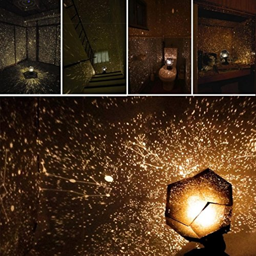 Galaxy Projector Ceiling Space Milky Way Stars Lamp DIY Scientific Game (Black) Milky Light