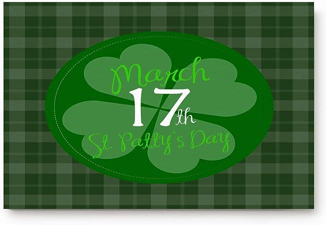 Irish St. Patricks Day Welcome Felpudo escocés escocés verde ...