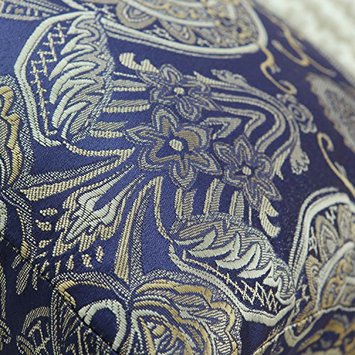CaliTime Pack of 2, Supersoft Throw Pillow Covers Cases for Couch Sofa Home Decor, Vintage Damask Floral, 18 X 18 Inches, Navy Blue