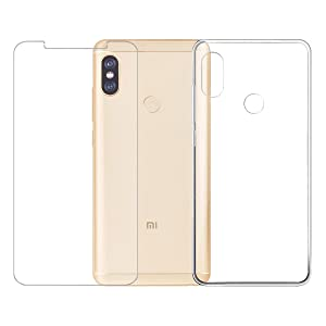 [Combination] Protective Film + Transparent Case for Xiaomi Redmi Note 5 Pro / Mi 6X, Wenjie High-quality Tempered Glass Screen Protector Tempered Glass Screen Protector Silicone Case Cover for Xiaomi Redmi Note 5 Pro / Mi 6X
