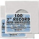 """(200) アーカイブ品質acid-free Heavyweight用紙インナー袖for 7""""ビニールレコード# 07iw"""