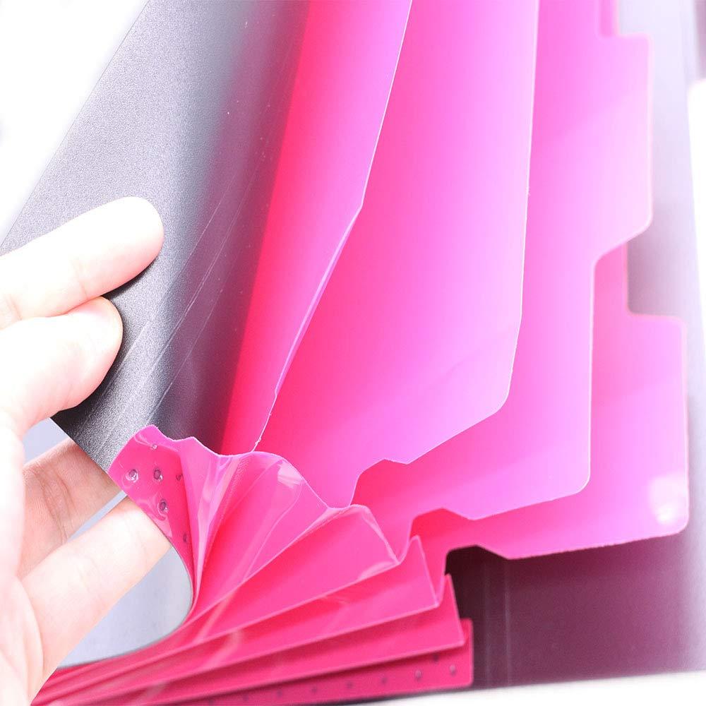 5 pack TSAOYA 5 Pz Espansione Cartelle File con 5 Tasche Plastica Organizer File A4 Formato Lettera 5 Diverse Decorazioni Colorate per Famiglie e Ufficio