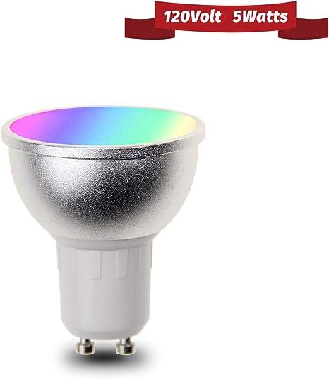GU10 Smart Bulb Wireless WiFi App Remote Control RGB Light for Alexa Google Home