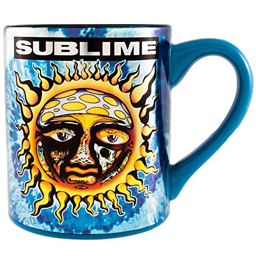 Silver Buffalo Lm0032z Live Nation Sublime Tie Dye Sun Ceramic Mug  14 Oz  Multicolor