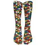 Rubik's Cube World Knee Long Sport Socks Design