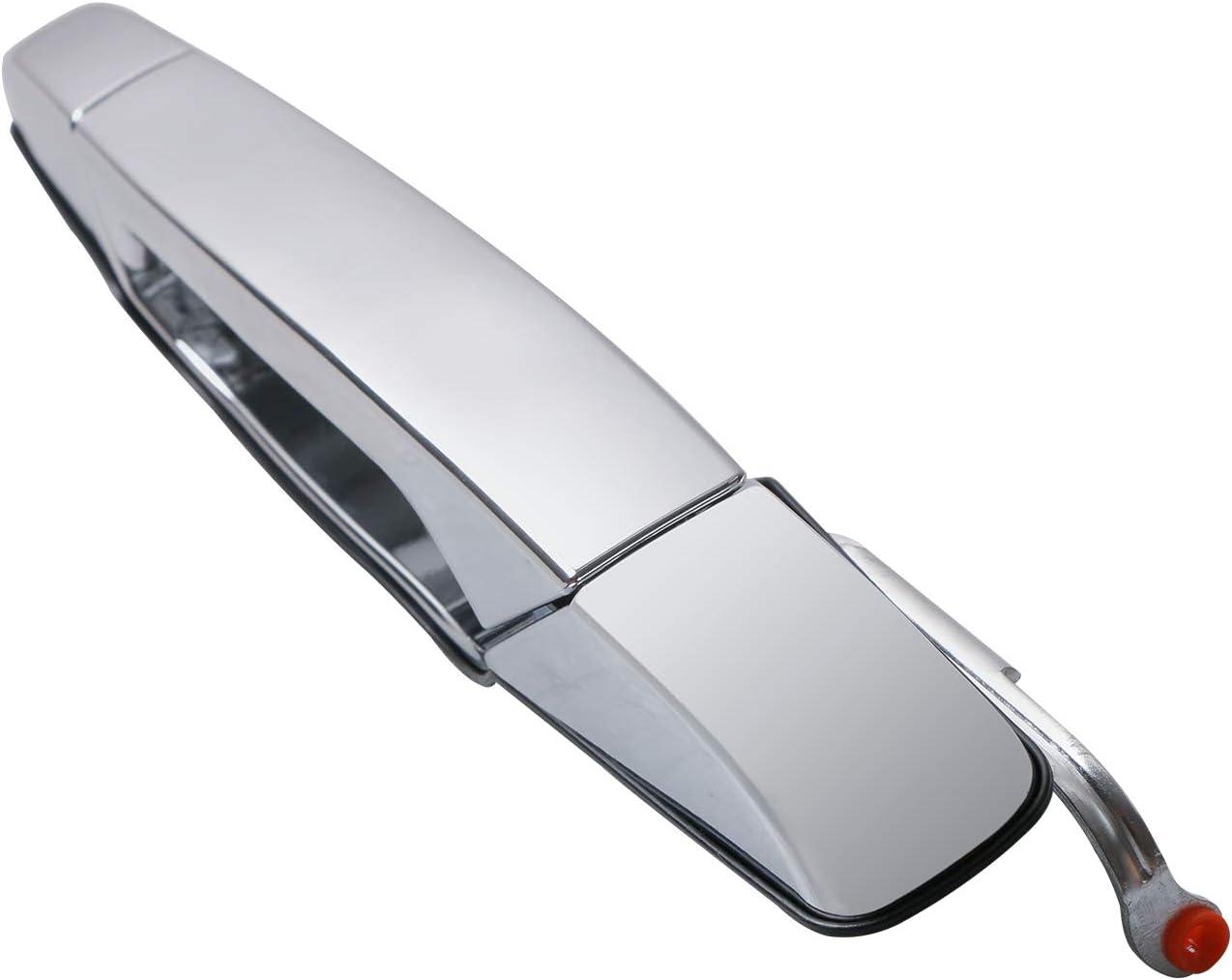 POLEMOTOR Exterior Chrome Door Handle Rear Driver Side 15915659 Compatible for 2008-2013 Chevrolet Silverado 1500 3500
