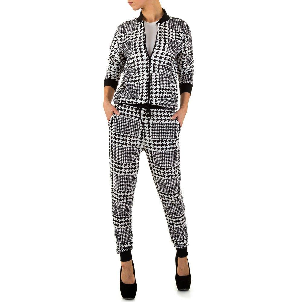 Ital-Design Gemusterter Zweiteiler Anzug Für Damen