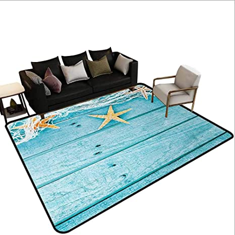 Admirable Amazon Com Aleasyhome Custom Area Rug Rustic Wood Boards Squirreltailoven Fun Painted Chair Ideas Images Squirreltailovenorg