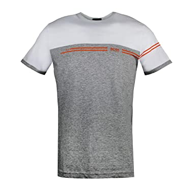 28d5f1af5 Amazon.com: Hugo Boss Men's Tee 11 Colorblock Shirt with Artwork: Clothing