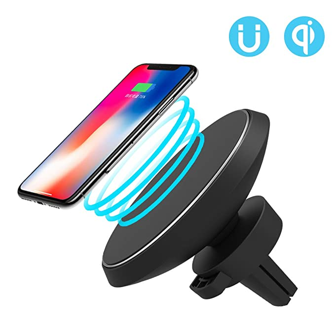 Funxim cargador wireless magnetico W3 de coche, para Iphone ...