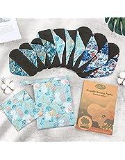Viedouce herbruikbare maandverbanden, superabsorberende bamboe hygiënische doek, herbruikbare maandverband met 2 waterdichte opbergzakken