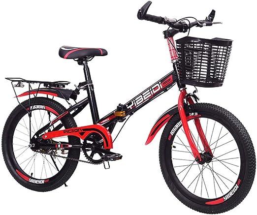 Defect Bicicletas Infantiles Deportes al Aire Libre Plegable Velocidad Bicicleta de montaña Estudiante Cambio de Velocidad Freno de Disco Bicicleta: Amazon.es: Hogar