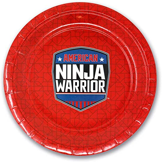 American Ninja Warrior Party Supplies Pack for 10 Guests - Includes Dinner & Dessert Plates, Napkins, Cups, Table Cloth - Official NBC Merchandise
