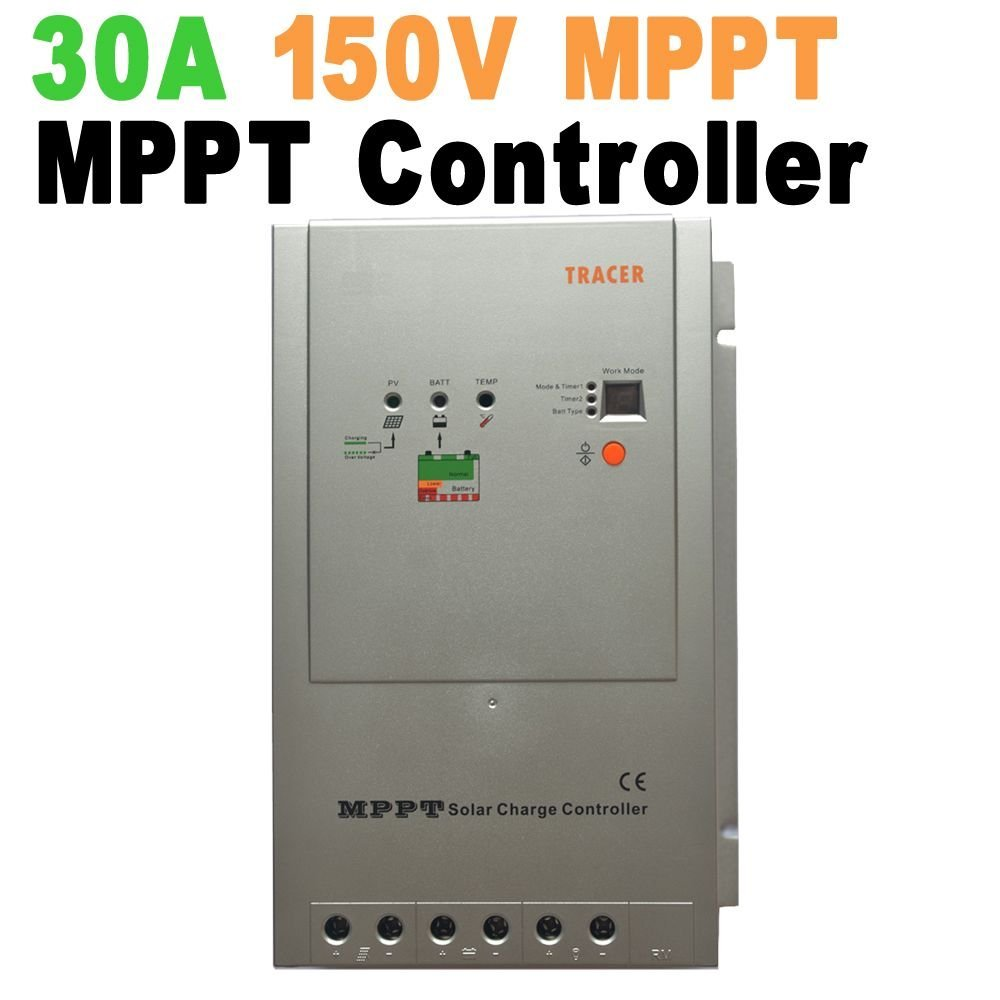 MPPT Controller Lade-Solar 30A 12V/24V Solar Panel Regler mit DISPLAY