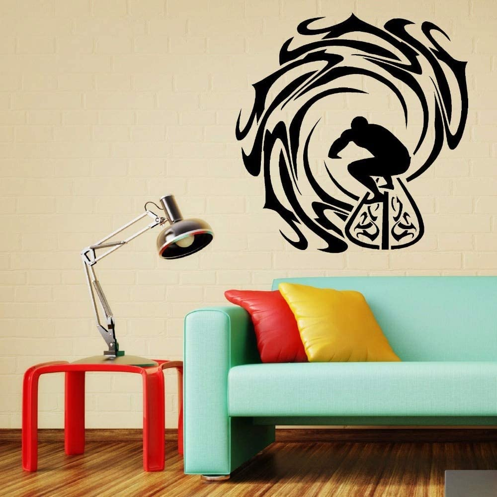 Vinyl Wall Art Sticker Decal Surf Mar Piscina Desmontable Deporte ...