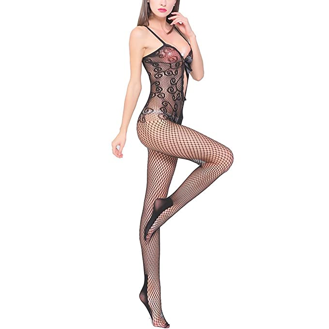 8f45a493e Sexy Lingerie Crotchless Bodystocking Hollow Out Lace Bodysuit Fishnet  Tights