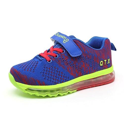 Zapatillas Deportivas Niño Zapatos para Correr Niña Calzado Deportivo Respirables Zapatillas de Deporte con Velcro Cómodas: Amazon.es: Zapatos y ...