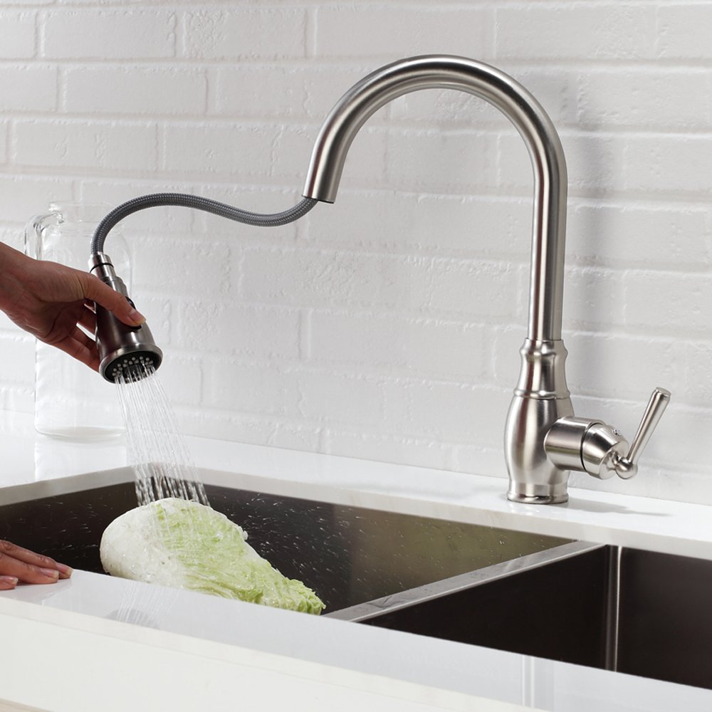 Sarlai 035 Antique High Pressure Single Lever Swivel Spout Stainless ...