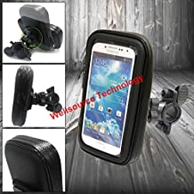 Cjeremy2000 Adjustable Rainproof Bicycle Bike or Motorcycle Mount Holder Case for Mobile Phone iPhone 5 5S 4 4S Samsung Galaxy S3 S4 S5 Note 2 Note 3 LG Nexus 4 Sony Xperia Z Z1 (Samsung S5)