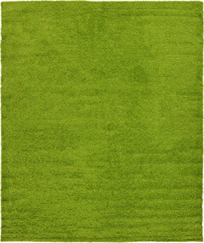 Unique Loom Solid Shag Collection Grass Green 12 x 15 Area Rug (12' x 15') Green Garden Rug