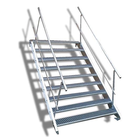 Acero Escaleras/sin barandilla, por un lado, zweiseitig/3 - 14 peldaños/2 anchos/72 Variaciones, plateado: Amazon.es: Bricolaje y herramientas