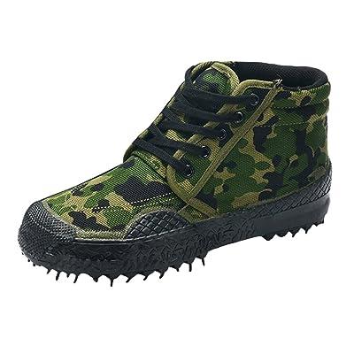 Chaussures de Sport Unisexe Respirant Camouflage Armée Chaussures D'Entraînement Durable Non-Slip Haut-Baskets Chaussures de Travail en Plein Air Randonnée Trekking Bottes