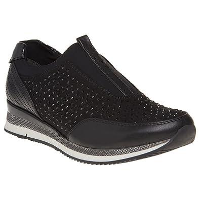 Amazon.com   Marco Tozzi 24710 Womens Sneakers Black   Shoes c40a1aa995